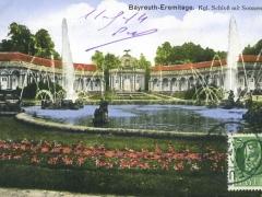 Bayreuth Eremitage Kgl Schloss mit Sonnentempel