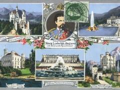 König Ludwig II v Bayern Mehrbildkarte