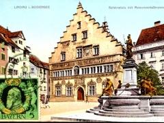 LIndau i Bodensee Reichsplatz mit Monumentlabrunnen