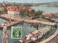 Lindau Hafenbild vom Leuchtturm mit Römerschanze