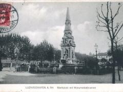 Ludwigshafen a Rh Marktplatz mit Monumentalbrunnen