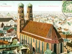 Müchen Frauenkirche Panorama vom Rathausturm