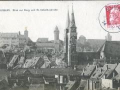 Nürnberg Blick zur Burg und St Sebalduskirche