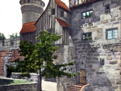 Nürnberg Eingang zur Burg mit Vestner Turm