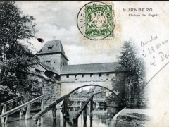 Nürnberg Einfluss der Pegnitz