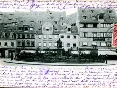 Nürnberg Hans Sachs Platz mit Denkmal