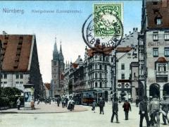 Nürnberg Königstrasse Lorenzkirche