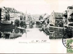 Nürnberg Karlsbrücke mit Schleifersteg
