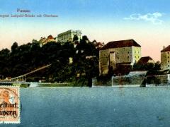 Passau Prinzgegent Luitpold Brücke mit Oberhaus