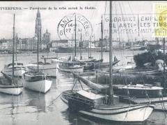 Antverpeno Panoramo de la urbo antau la Skeldo