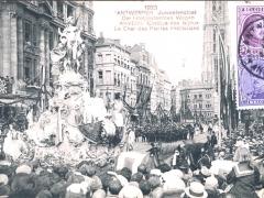 Antwerpen 1923 Juweelenstoet Der Edelgesteenten Wagen