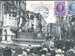 Antwerpen 1923 Juweelenstoet Lodewijk van Bercken Wagen
