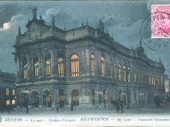 Antwerpen Bij nacht Vlaamsche Schouwburg