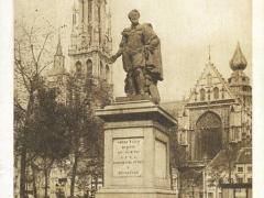 Antwerpen Hoofdkerk en standbeeld van Rubens
