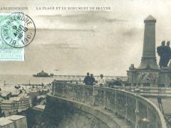 Blankenberghe La Plage et le Monument de Bruyne