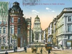 Bruxelles Rue de la Regence et Palais de Justice