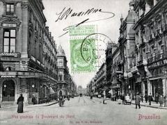 Bruxelles Vue generale du Boulevard du Nord