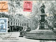 Duisburg Ruhrort Neumarkt mit Krieger Denkmal
