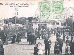 Charleroi Exposition 1911 Vue du Villiage Japonais