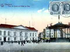 Charleroi Place du Centre et l'Hotel de Ville
