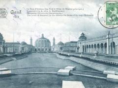 Gand 1913 Hauptallee Hinten der Haupteingang