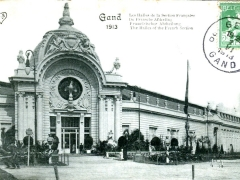 Gand 1913 Les Halles de la Section Francaise