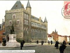 Gand Chateau de Gerard le Diable et Statue Lievin Bauwens