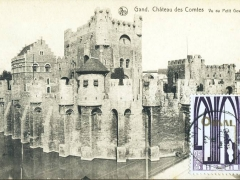 Gand Chateau des Comtes Vu du Petit Gewad
