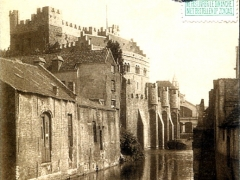 Gand Chateau des Comtes vu du pont de la Lieve