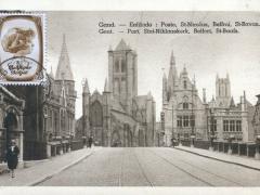 Gand Enfilado Poste St Nicolas Beffroi St Bavon