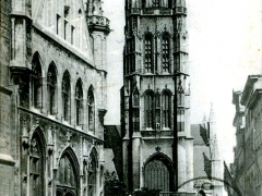 Gand Entree du Beffroi et Eglise St Bavon