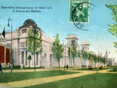 Gand Exposition Internationale 1913 L'Avenue des Nations