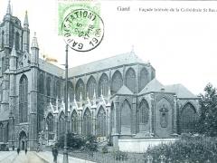 Gand Facade laterale de la Cathedrale St Ravon