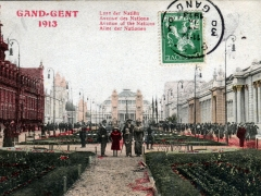 Gand Gent 1913 Laan der Natien