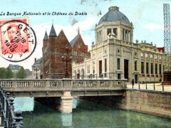 Gand La Banque Nationale et le Chateau du Diable