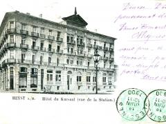 Heyst Hotel du Kursaal vue de la Station