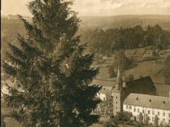 Houffalize Eglise et abbaye vue prise de la Montagne des Cochons
