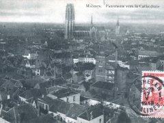 Malines Panorama vers la Cathedrale