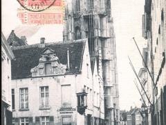 Malines Rue Sainte Catherine et Eglise Saint Rombaut