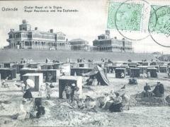Ostende Chalet Royal et la Digue