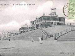 Ostende Chalet Royal vu de la Mer