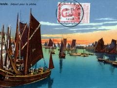 Ostende Depart pour la peche