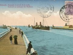 Ostende Estacade et arrivee de la malle