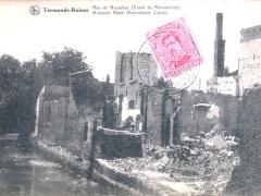 Termonde Ruines Rue de Bruxelles Canal du Rommelaer