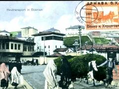 Heutransport in Bosnien