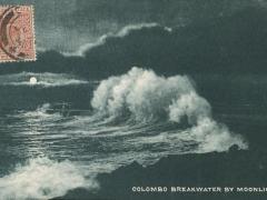 Colombo Breakwater by Moonlight