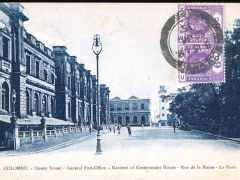 Colombo Queen Street General Postoffice Gardens of Government House
