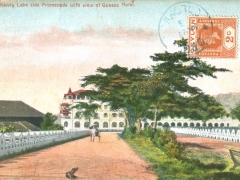 Kandy Lake side Promenade with view of Queens Hotel