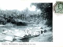 Ratnapura Paddy Boats on the river