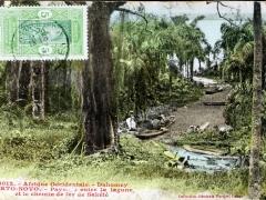 Porto Novo Paysage entre la lagune et le chemin de fer de Sakete